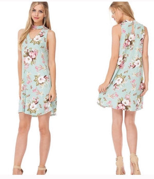 Spring Bloom Choker Dress  - The Peach Mimosa