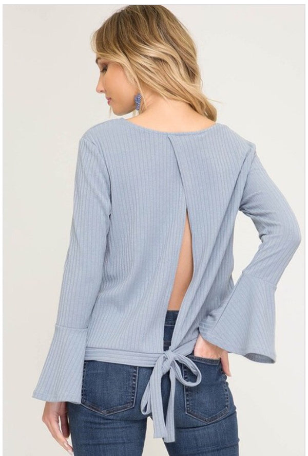 Stacy Tie Top  - The Peach Mimosa
