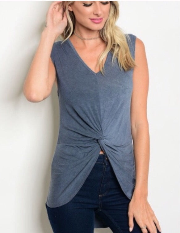 Twist front tank  - The Peach Mimosa