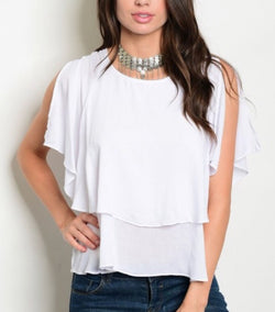 Annabelle Ruffle Top  - The Peach Mimosa