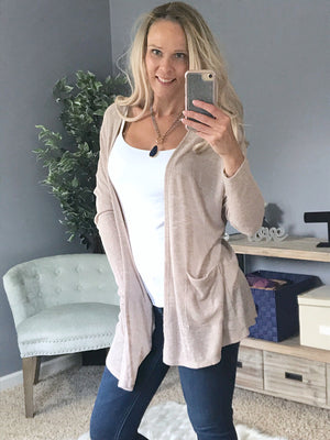 Lounge With Me Cardigan  - The Peach Mimosa