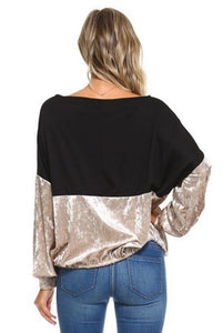 Velvet Touch Top  - The Peach Mimosa