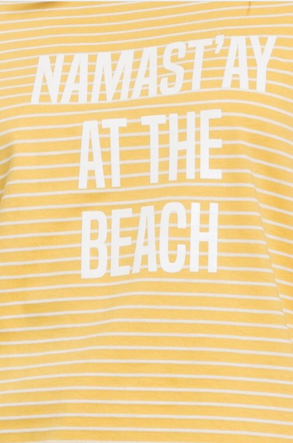 Namastay at the Beach Tee  - The Peach Mimosa