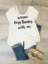 Load image into Gallery viewer, Lazy Sunday tee  - The Peach Mimosa