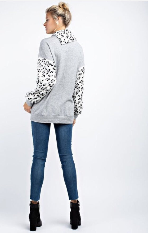 Snow Leopard Top  - The Peach Mimosa