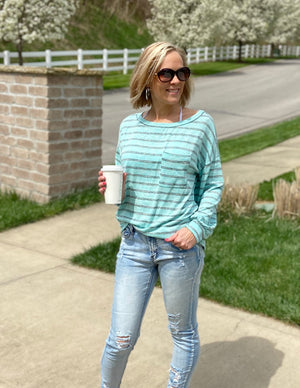 Coastal Cruise Striped Top