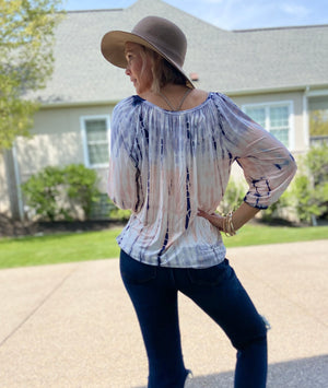 Weekend In Motion Tie Dye Top