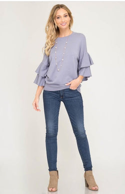 Monica Sweater  - The Peach Mimosa