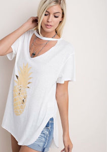 Sweet as a Pineapple Tee  - The Peach Mimosa