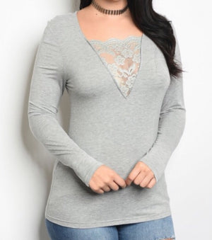 Lowey Lace Top  - The Peach Mimosa