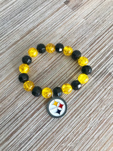 Load image into Gallery viewer, Steeler bead bracelet  - The Peach Mimosa
