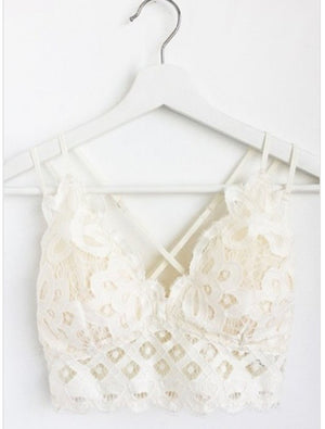 Lovely Lace Bralette-Ivory