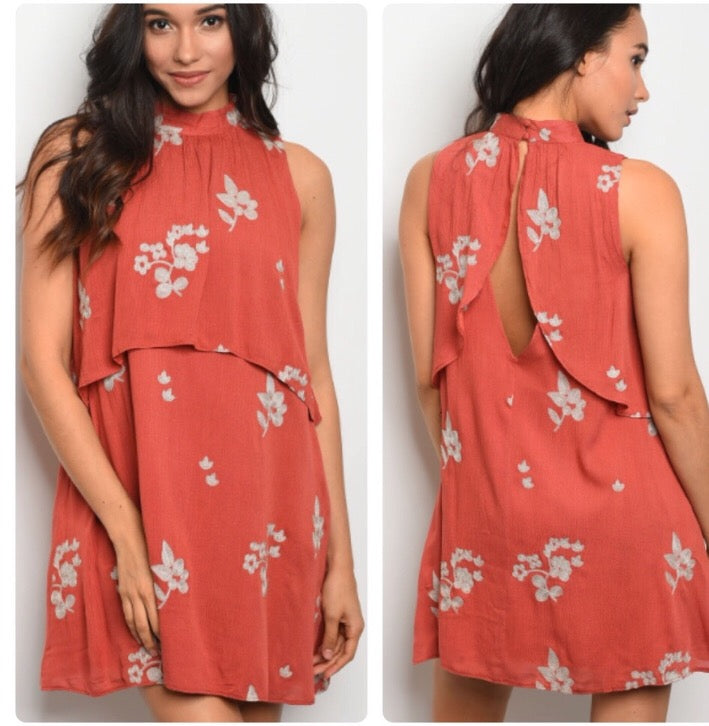 Sunset Dreaming Mini Dress  - The Peach Mimosa