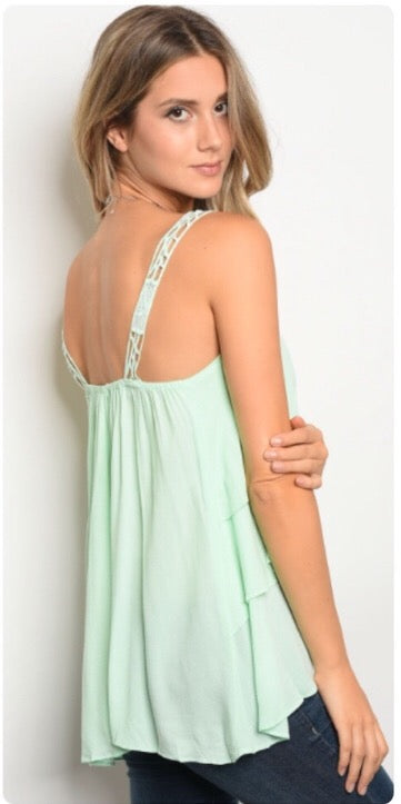 Fun in the Sun ruffle tank  - The Peach Mimosa