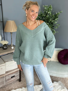 Stroll In The Park Knit-dusty sage