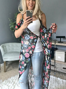 Ready For Fun Kimono  - The Peach Mimosa