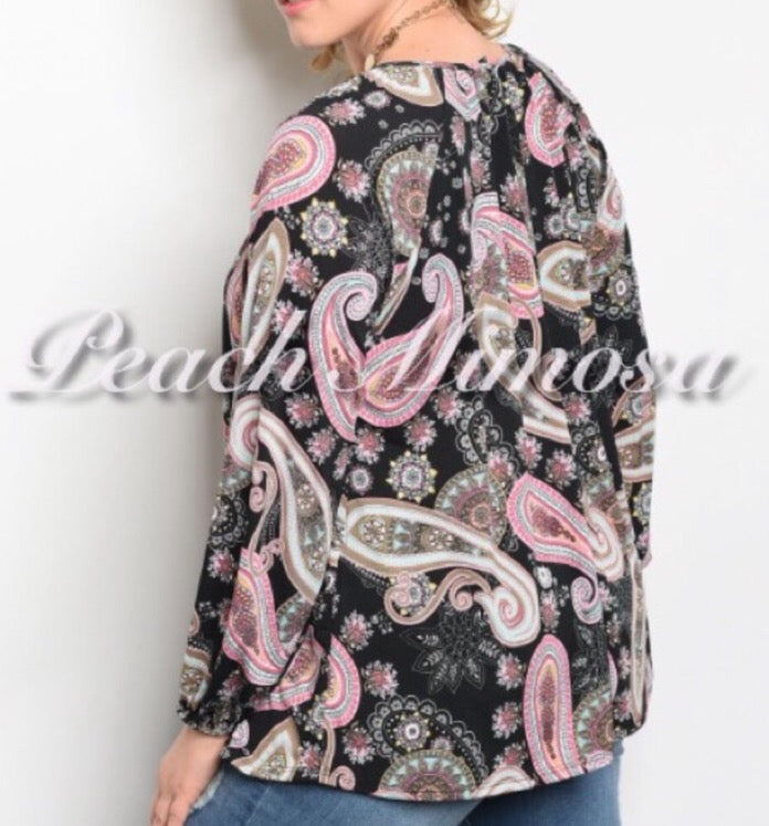 Paisley Top  - The Peach Mimosa