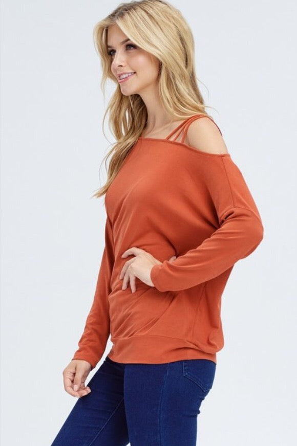 Romp in the Leaves top  - The Peach Mimosa