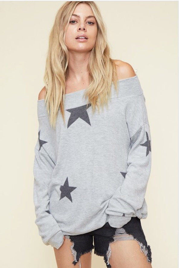 Seeing Stars Top  - The Peach Mimosa