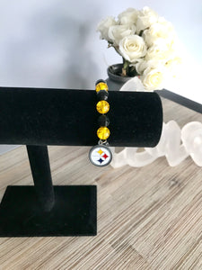 Steeler bead bracelet  - The Peach Mimosa