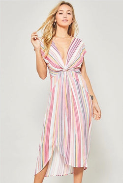 Take the Plunge Dress  - The Peach Mimosa