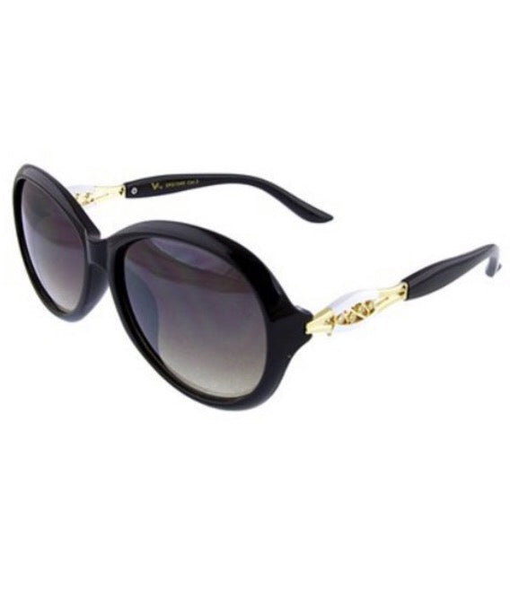 Crystal detail sunglasses  - The Peach Mimosa