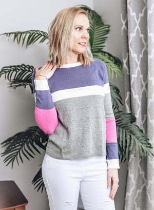 You'll Never Know Colorblock Sweater