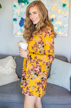 Load image into Gallery viewer, Mustard Floral Lounge Dress