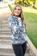 Load image into Gallery viewer, Flirty Camo Half Zip Hoodie Now Available in Kids!