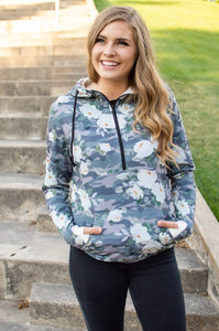 Flirty Camo Half Zip Hoodie Now Available in Kids!