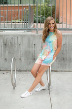 Load image into Gallery viewer, Rocker Tank | Seaside Tie Dye