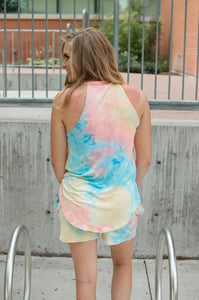Rocker Tank | Seaside Tie Dye