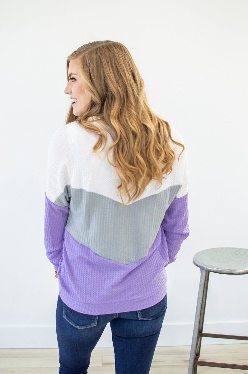The Best in You Waffle Knit Top | Amethyst