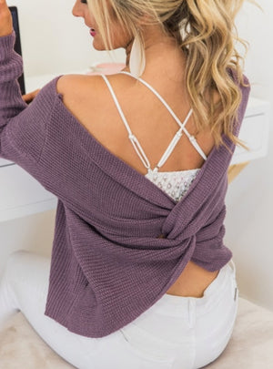 Lovely Lace Bralette-Violet Gray