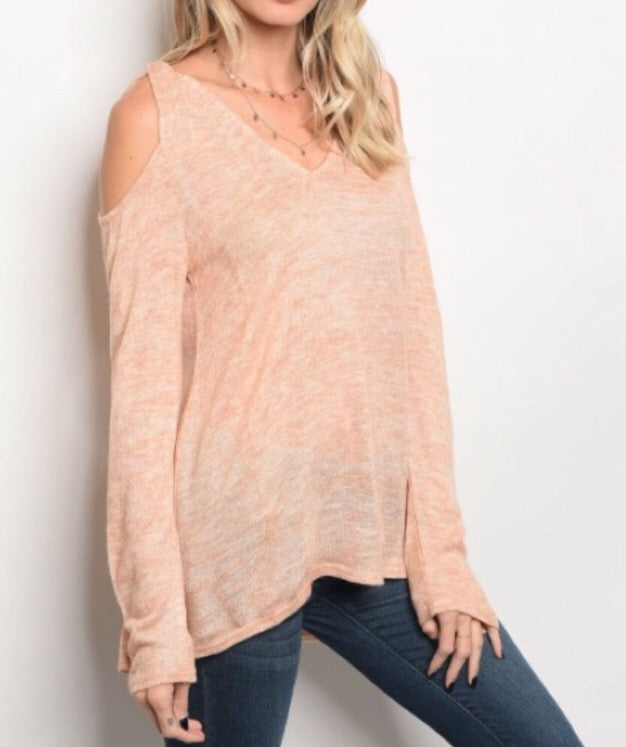 Dreamy Whisper Sweater  - The Peach Mimosa