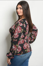 Load image into Gallery viewer, Midnight Rose Knit Top  - The Peach Mimosa