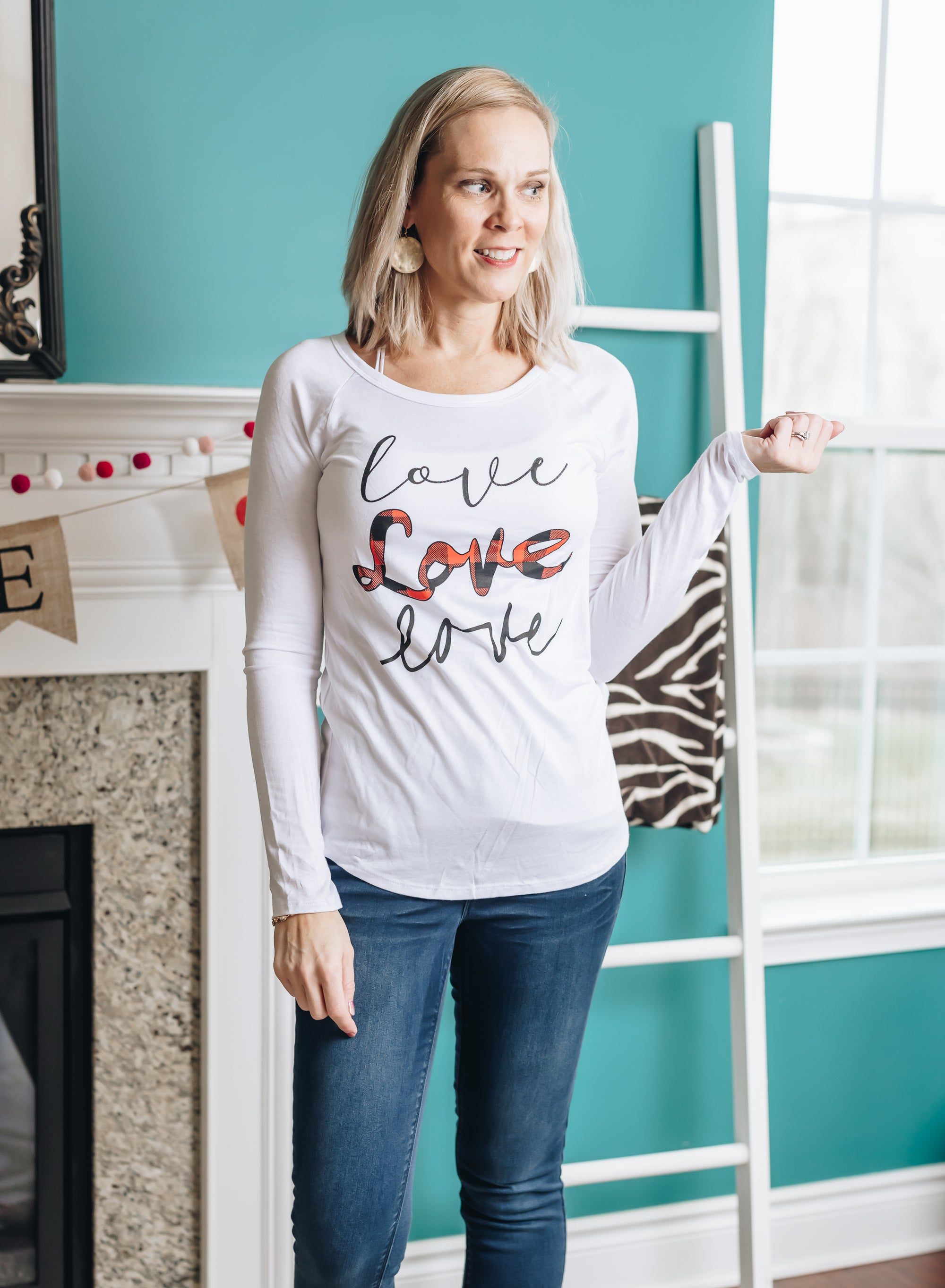 Plaid Love Graphic Tee
