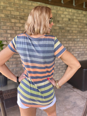 Afternoon Daydreaming Striped Tee