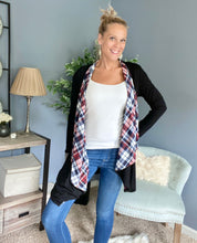 Load image into Gallery viewer, Plaid Contrast Cardigan