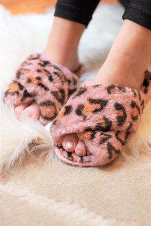 Ultra Fuzzy Animal Print House Shoes