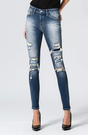 Felicia Distressed Dark Wash Jeans
