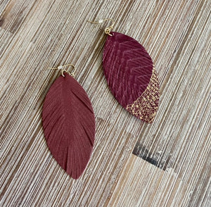Modern Love Earrings-burgundy