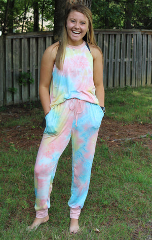 Accent Joggers | Seaside Tie Dye