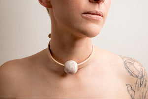 ŌYA • NUDE MINI BALL CHOKER