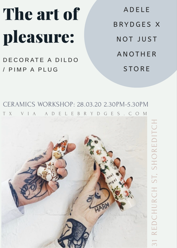 MIXED WORKSHOP : DECORATE-A-DILDO+PLUG - 28.03.20 14:30-17:30