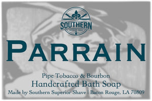 Parrain Handcrafted Shea Butter Pipe Tobacco & Bourbon Bath Soap