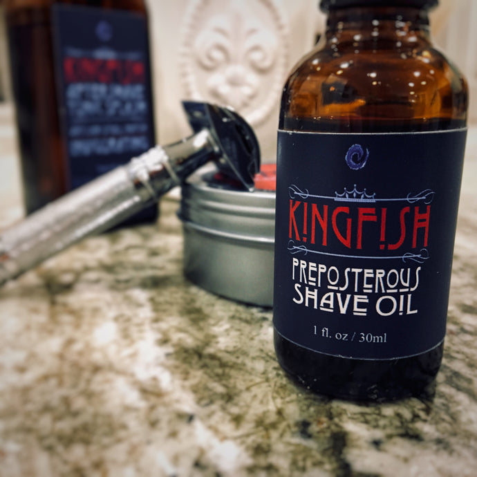 HydroLFE Kingfish PrePosterous Shave Oil