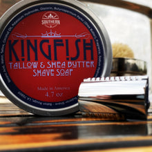 Load image into Gallery viewer, Kingfish Tallow & Shea Butter Premium Handmade Shave Soap