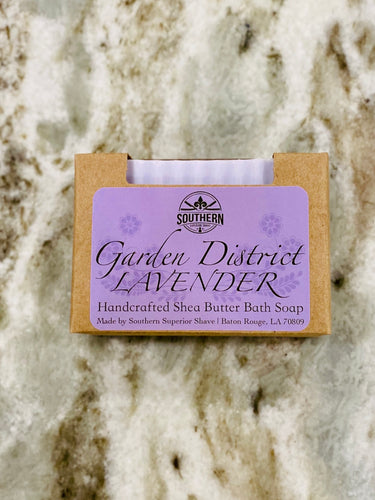 Garden District Lavender Handcrafted Shea Butter Bath Soap