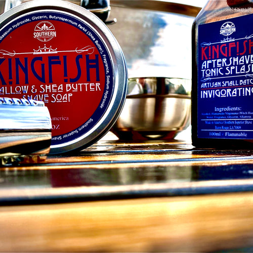 Kingfish Gift Set with boar hair shave brush